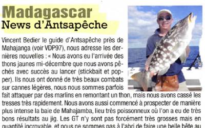 Voyage de pêche juin/juillet 2015